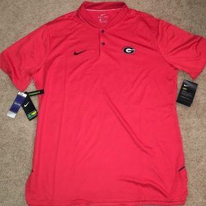 Nike Red Georgia Bulldogs Blade Collar Polo Mens L